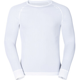 Odlo Cubic Camiseta Manga Larga Cuello Redondo Hombre, white